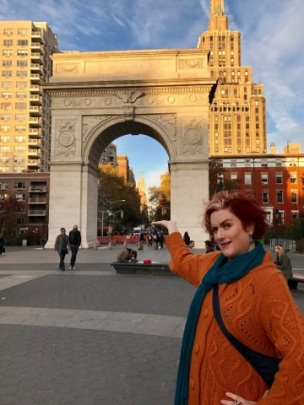 Washington Square Arch, Empire State Building- wee image in the background