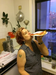 This is how you must eat the pizza.